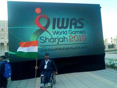 Sandesha-Paralympic Athlete-iwas2019-indianflag