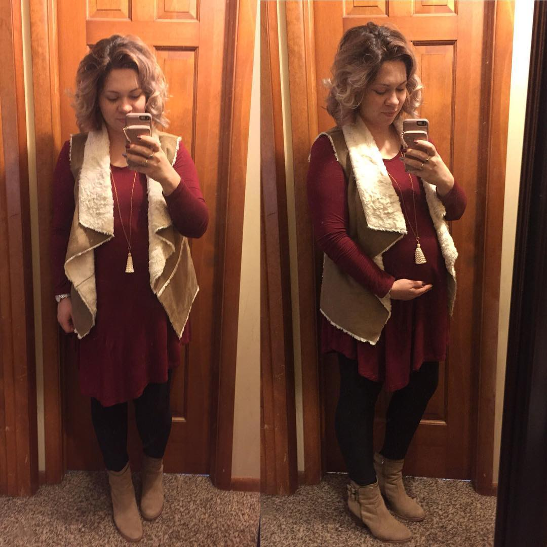 Vests and booties and dresses and leggings…it's fall, y'all