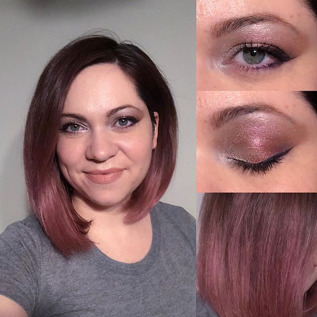 Tried the Younique Addiction #5 palette this week and loooove the end result of mixing just a few colors! I also did a pre-review test of a Maybelline mascara and 👏👏👏 so far, so good