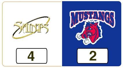 TPWHL Saints vs Mustangs