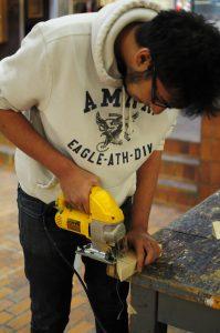 sawing