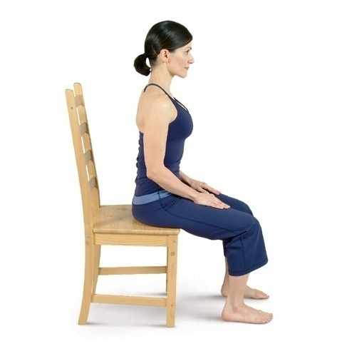 Chair Yoga: Sitting Mountain (Tadasana)