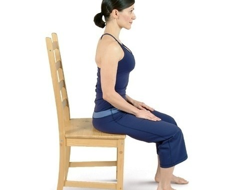 chair yoga sitting mountain tadasana