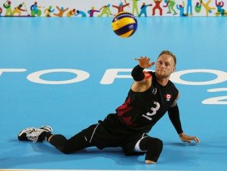 Sitting volleyball Austin Hinchey
