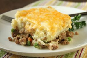 Photo of a plate of Shepherd's Pie at Lisa T. Cafe