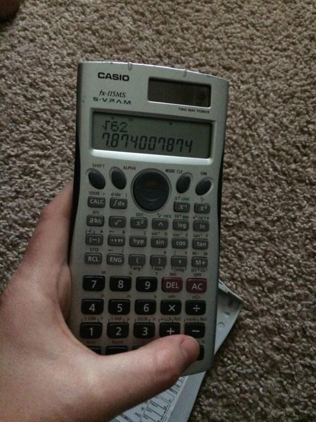 Calculator Square Root