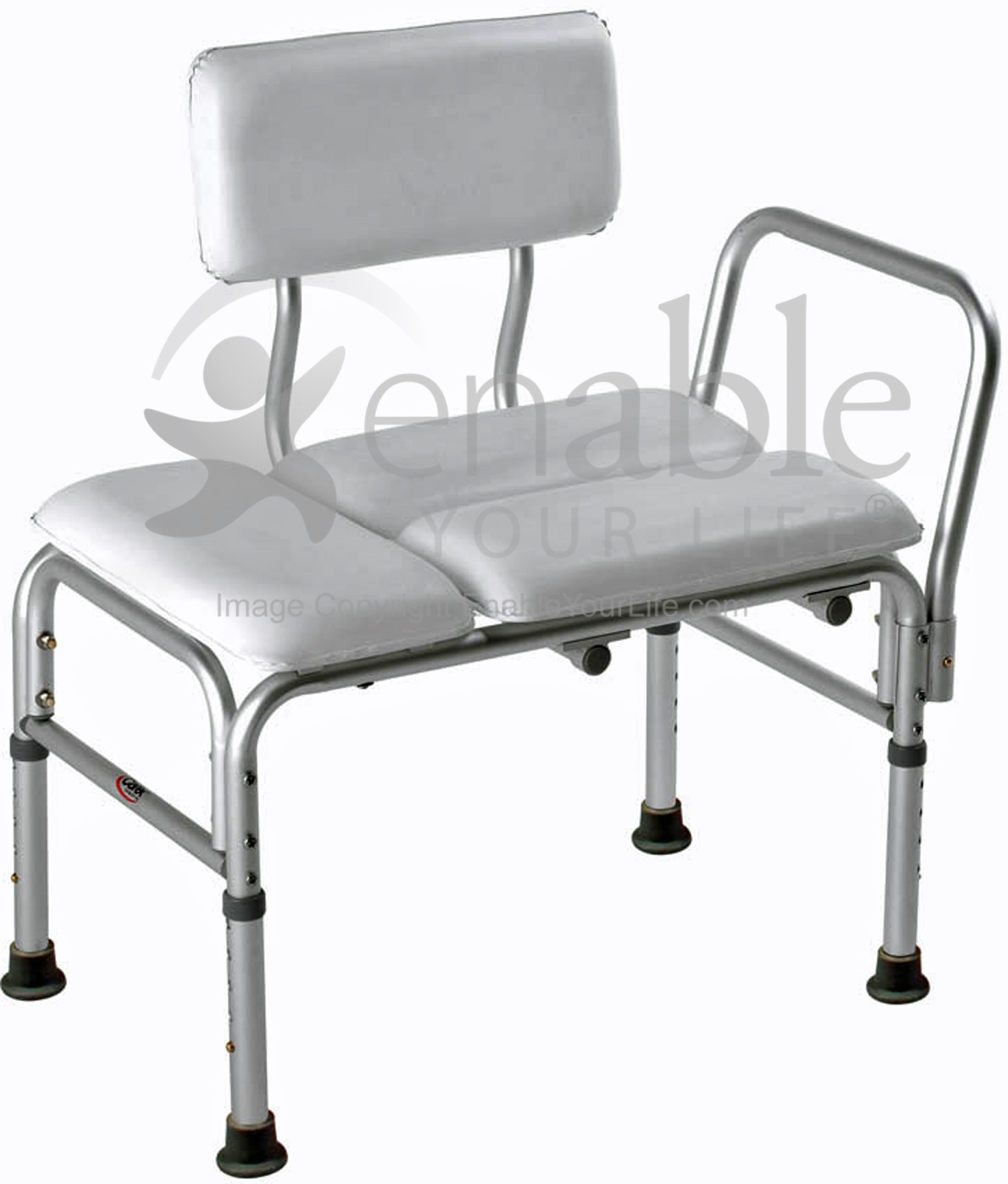 carex shower chair gray side deluxe vinyl padded transfer bench with full seat