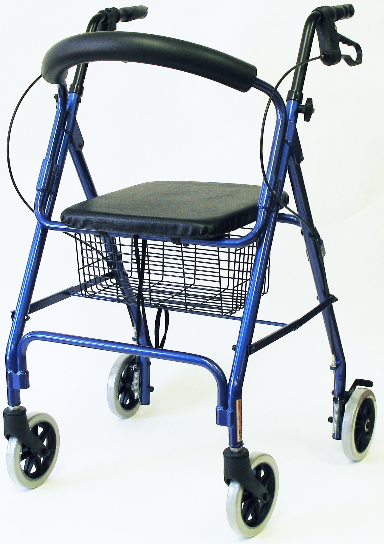 walker roller chair armless task karman 4 wheel with basket