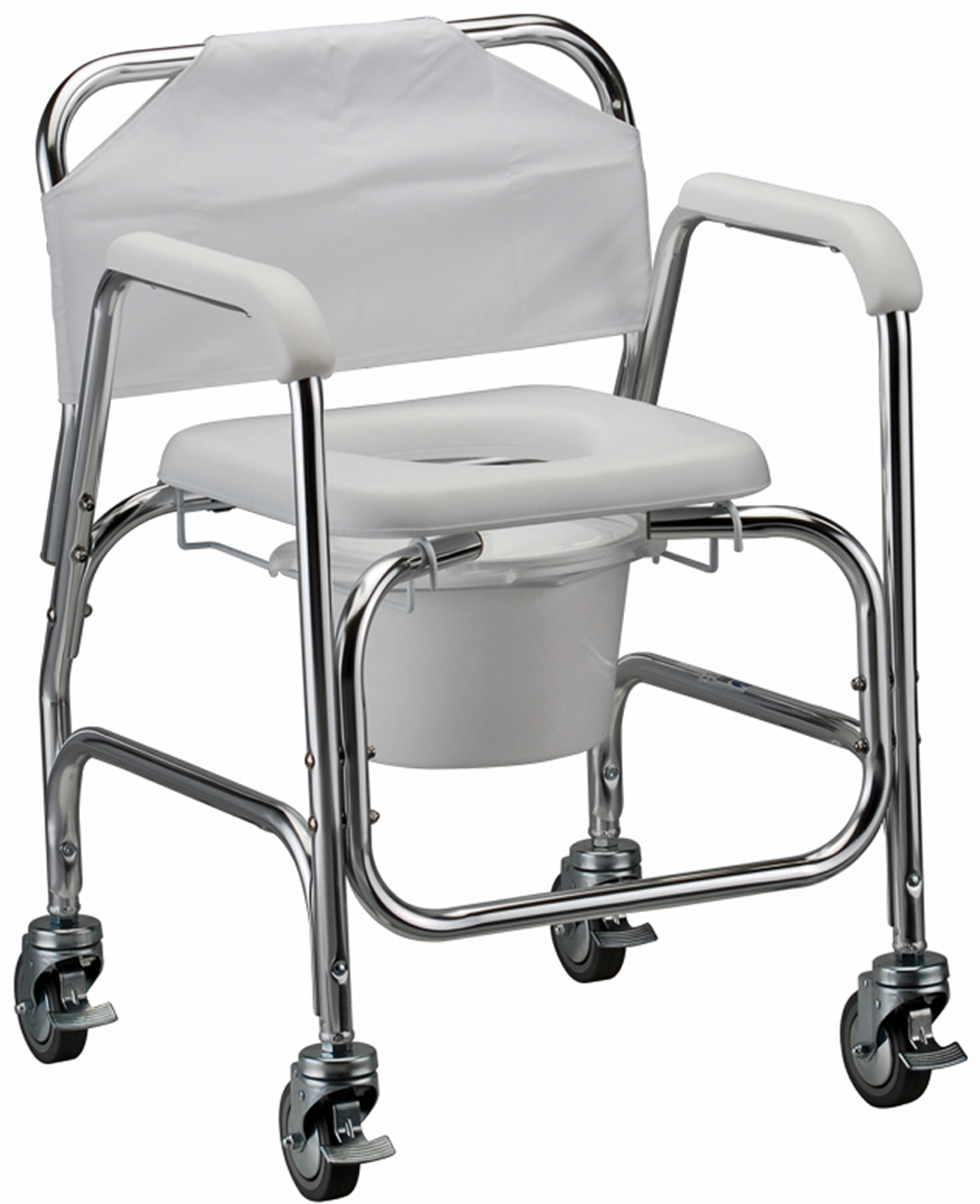 rolling bath chair overstock dining room chairs nova shower and commode with wheels 250 lb capacity