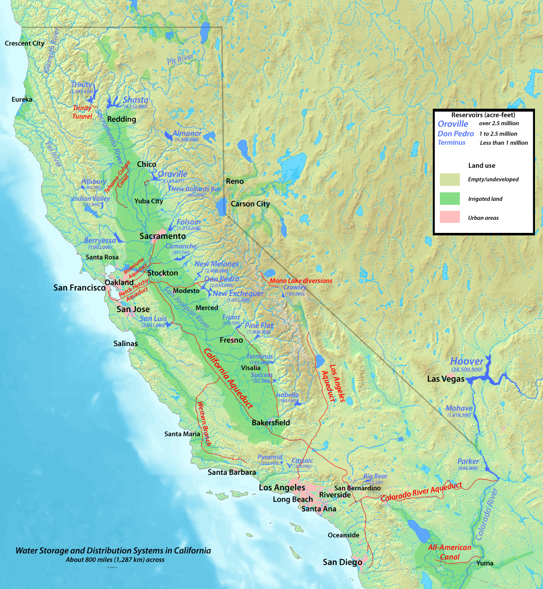 Lahontan Map River System