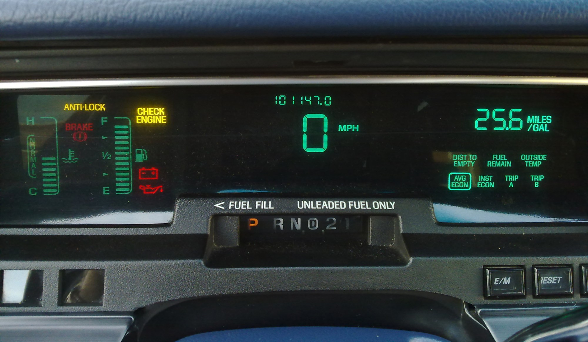 hight resolution of photograph of grand marquis optional digital instrument cluster and trip computer