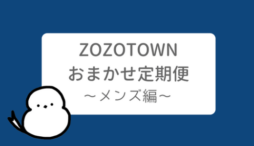 ZOZO おまかせ定期便 レビュー 【メンズ・着用画像あり】