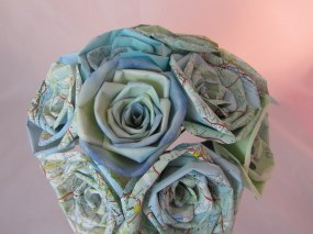 Map Rose Bouquet by Ena Green Designs