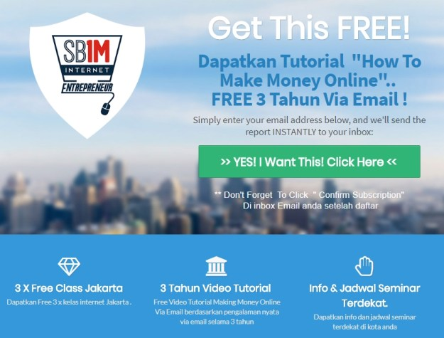 free member sb1m Belajar Internet Marketing Online di Pangkalan 0896 1000 7713