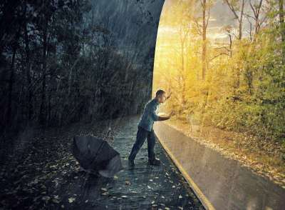 ατυχία σουρεάλ άντρας συναισθήματα παγίδα αρνητικότητα