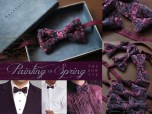 Painting of Spring Bow-Tie