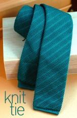 Green Knit Tie