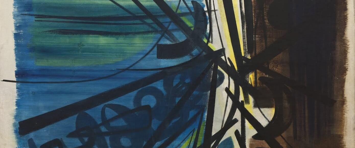 Composition T, 50-5 par Hans Hartung (oeuvre d'art absrait)