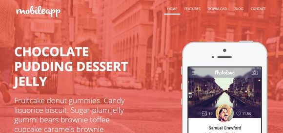 Mobileapp - Free Bootstrap Templates 2014