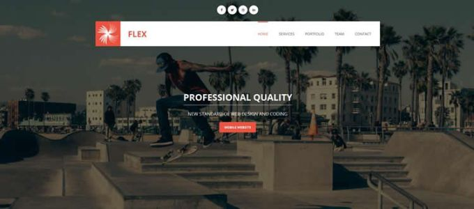 Flex - Onepage Responsive Free Template