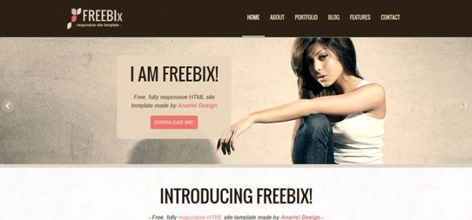 HTML CSS Free Responsive Template