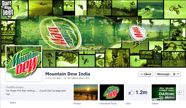 Mountain Dew facebook