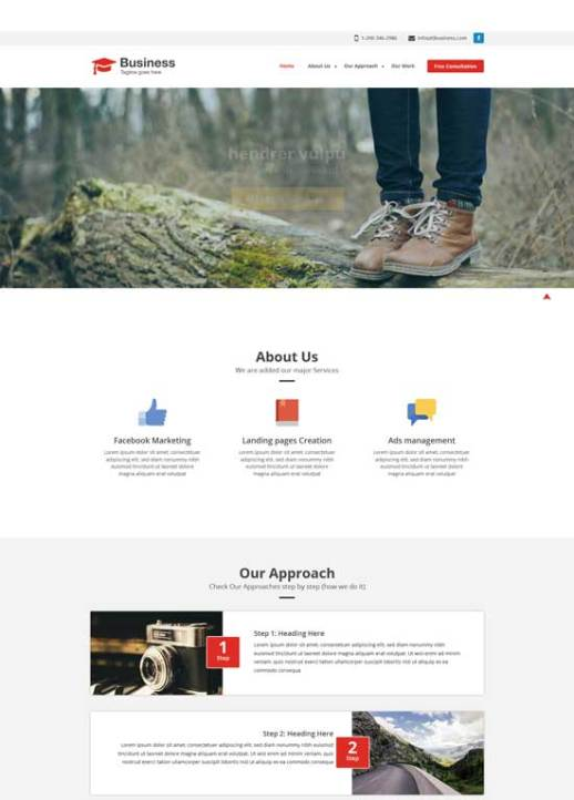 50 free responsive html5 and css3 templates agency business free responsive website template accmission Choice Image