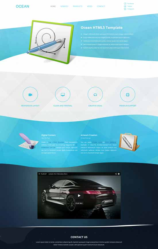 Ocean-Free-HTML5-Landing-Page-Template