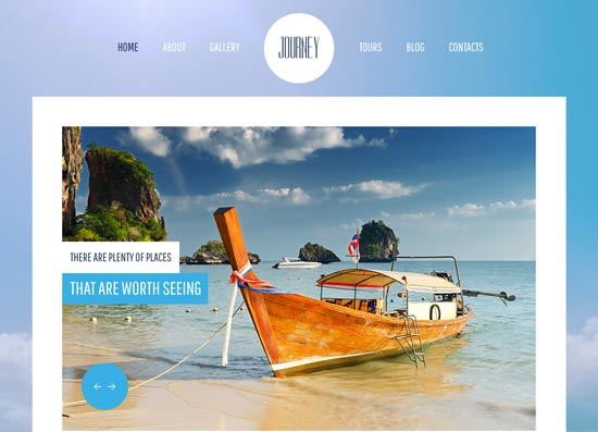 free html5 css3 templates jQuery Travel