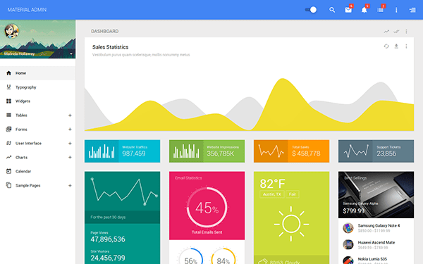 These Bootstrap Admin Themes Are Material Design Inspired 1