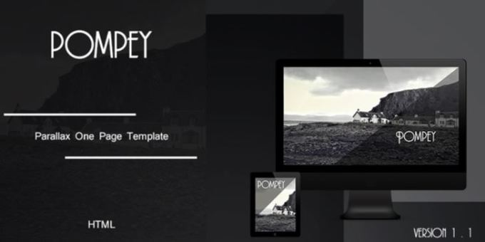 Pompey - Parallax One Page HTML Template