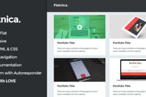 Collection of 10 Best HTML Portfolio Website Templates 1