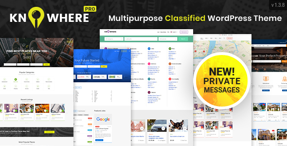 Knowwhere Multipurpose WordPress Classified Theme