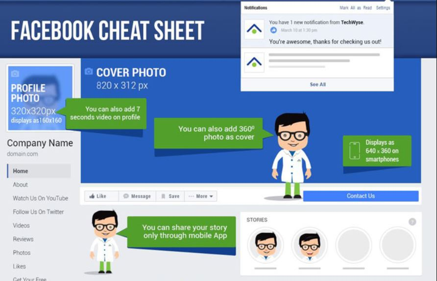 Best Practices for Facebook Image Sizes 2018 - Cheat Sheet