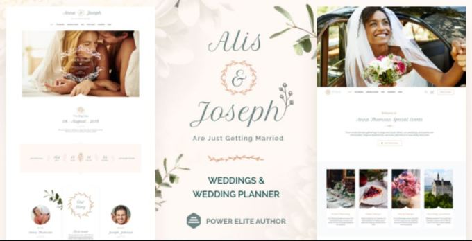 Alis - Wedding Planning WordPress Theme