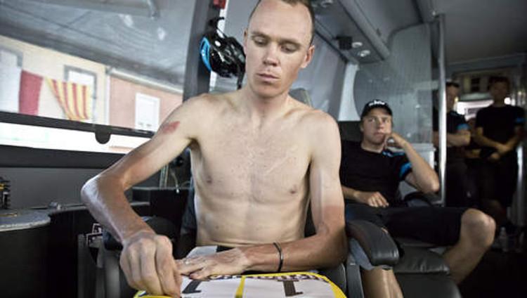 Algunos profesionales llevan la delgadez al extremo, en la imagen Chris Frome