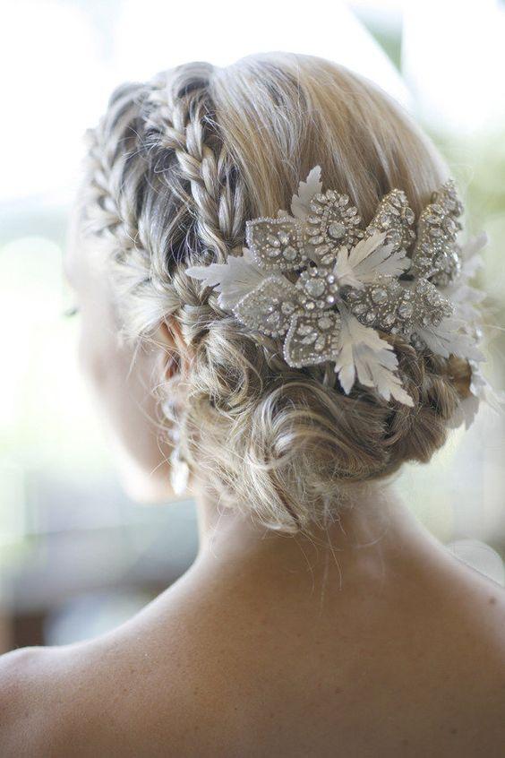 peinados para velo de novias