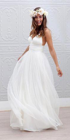 7a91d7f5e4 Vestidos de novia para una boda en la playa