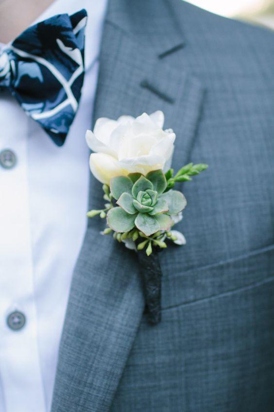 boutonniers para bodas