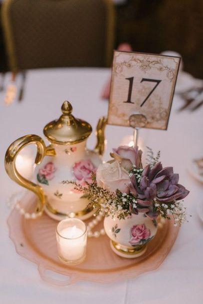 centros de mesa boda vintage