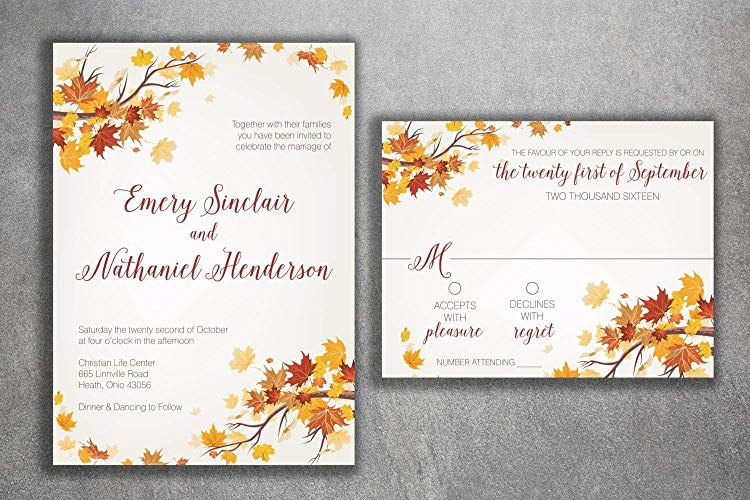 invitaciones otoño