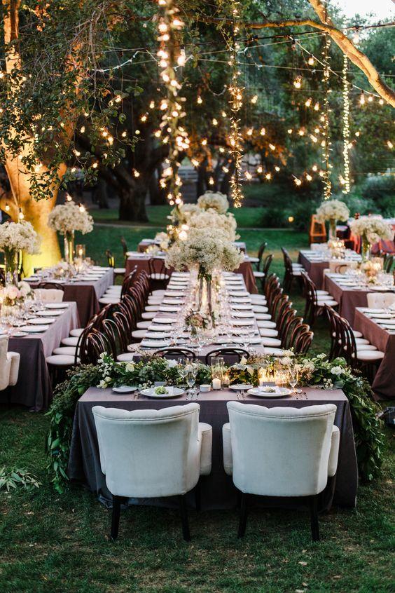 luces colgantes para bodas