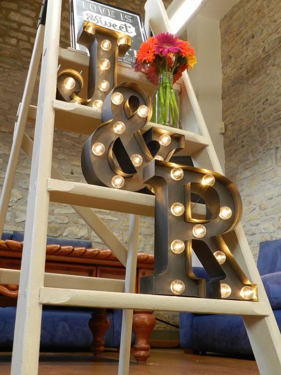 letras iluminadas bodas puerto rico, iluminar una boda
