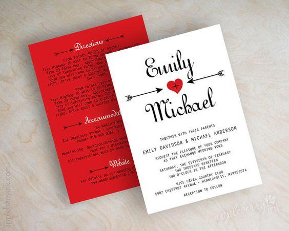 Románticas Invitaciones para una Boda en San Valentín