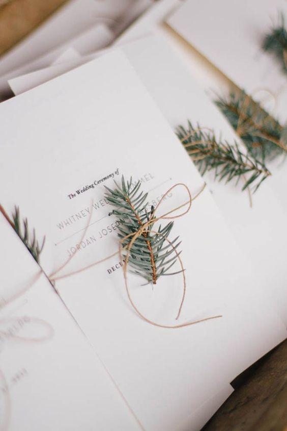 invitaciones boda navideña