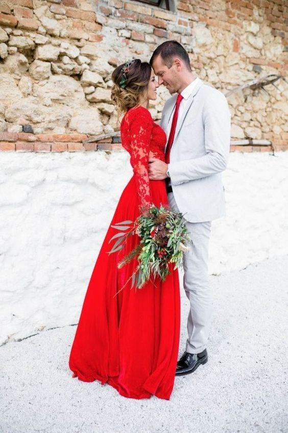 bodas de rojo