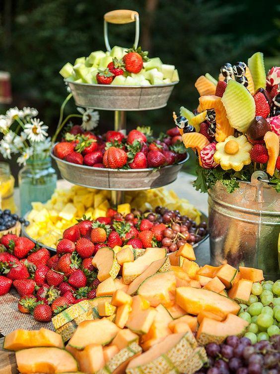 frutas y helado