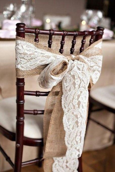lazos para sillas bodas country