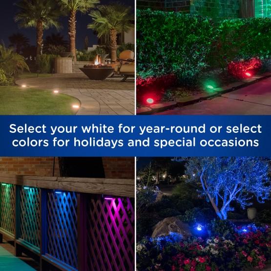 enbrighten seasons mini color changing led landscape lights 12 lights 22 ft black cord