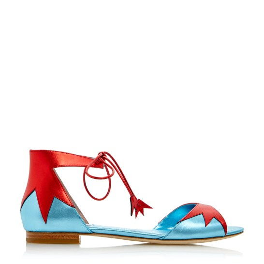 Dune Loves Rupert Sanderson - Blazing - £145 - red blue metallic